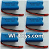 Wltoys L343 RC Battery Packs,6.4V Battery,6.4V Lithium-iron battery(6pcs)